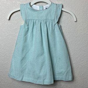 Girls Janie & Jack Aqua Sparkle Tweed Dress 12-18m